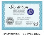 light blue vintage invitation.... | Shutterstock .eps vector #1349881832