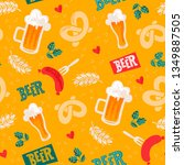 beer seamles surface pattern.... | Shutterstock .eps vector #1349887505
