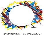 vector illustrated retro comic... | Shutterstock .eps vector #1349898272