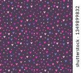 vector cute romantic cartoon... | Shutterstock .eps vector #1349899832