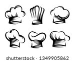hand drawn set of chef and cook ... | Shutterstock .eps vector #1349905862
