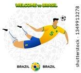 vector illustration football... | Shutterstock .eps vector #1349913278