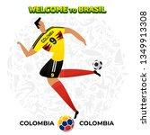 vector illustration football... | Shutterstock .eps vector #1349913308