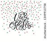 hand written italian lettering... | Shutterstock .eps vector #1349913758