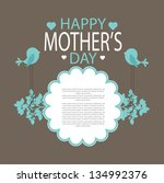 mothers day card | Shutterstock .eps vector #134992376