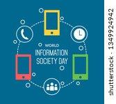 world information society day... | Shutterstock .eps vector #1349924942