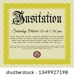 yellow retro vintage invitation.... | Shutterstock .eps vector #1349927198