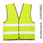 yellow vest isolated on the...   Shutterstock . vector #134993882