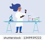 woman scientist in lab... | Shutterstock .eps vector #1349939222