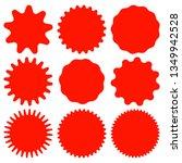 set of red retro blank...   Shutterstock .eps vector #1349942528