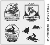 snowmobile emblems  labels ... | Shutterstock .eps vector #1349954618