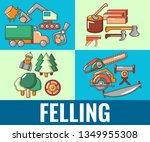 felling concept banner. cartoon ... | Shutterstock . vector #1349955308