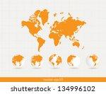 world map. vector | Shutterstock .eps vector #134996102