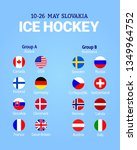 men's ice hockey table. vector... | Shutterstock .eps vector #1349964752