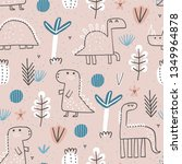 cute seamless pattern with cute ...   Shutterstock .eps vector #1349964878