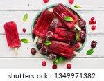 homemade raspberries blackberry ... | Shutterstock . vector #1349971382