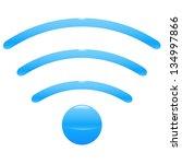 bluetooth radio wave icon....