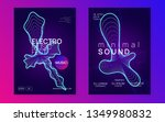 music fest. curvy show banner... | Shutterstock .eps vector #1349980832
