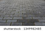 granite paving cobbles and...   Shutterstock . vector #1349982485