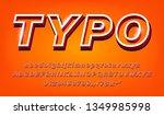 3d modern bold alphabet set of... | Shutterstock .eps vector #1349985998