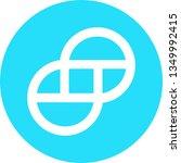 gemini dollar coin vector logo   Shutterstock .eps vector #1349992415