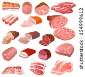 illustration of a set of... | Shutterstock .eps vector #134999612