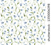 seamless pattern with wild bell ...