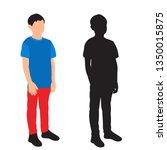 Silhouette Of Child  Boy