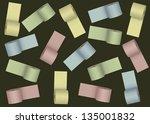 . background of paper rolls | Shutterstock .eps vector #135001832