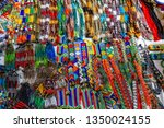 colorful zulu traditional... | Shutterstock . vector #1350024155