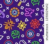 superhero outline seamless... | Shutterstock .eps vector #1350029642
