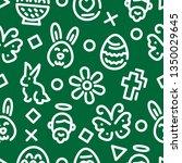 easter outline seamless pattern ... | Shutterstock .eps vector #1350029645