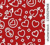 herat outline seamless pattern  ... | Shutterstock .eps vector #1350029648