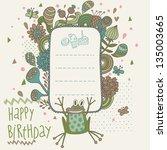 Happy Birthday Card In Vector...