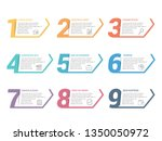 set of nine numbers with place... | Shutterstock .eps vector #1350050972