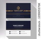 business model name card luxury ...   Shutterstock .eps vector #1350053708