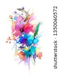abstract oil painting flower... | Shutterstock . vector #1350060572