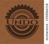 undo realistic wood emblem | Shutterstock .eps vector #1350066218