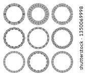 vector set of round linear... | Shutterstock .eps vector #1350069998