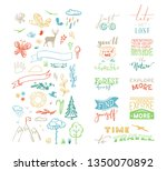 vector chalk lettering and... | Shutterstock .eps vector #1350070892