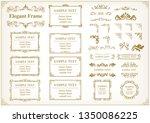gold frame illustration set | Shutterstock .eps vector #1350086225