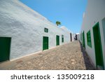 White Street On Lanzarote  Spain