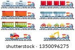 railroad concept. set of... | Shutterstock .eps vector #1350096275