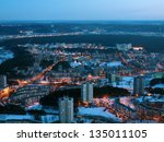 vilnius city night aerial view  ... | Shutterstock . vector #135011105
