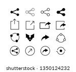 set of share icons for websites ... | Shutterstock .eps vector #1350124232