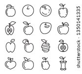 apple icons. set of different... | Shutterstock .eps vector #1350141335