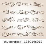 set of decorative elimen... | Shutterstock .eps vector #1350146012