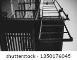 fire staircase in new york | Shutterstock . vector #1350176045