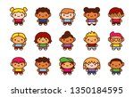 vector cute character isolated... | Shutterstock .eps vector #1350184595