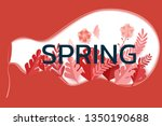 paper art style. spring season... | Shutterstock .eps vector #1350190688